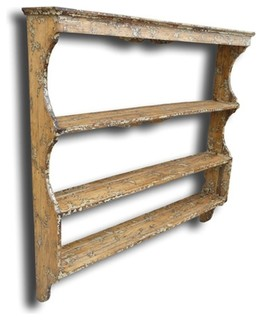 ... Rack White/Cream Oak Wood - Traditional - Display And Wall Shelves