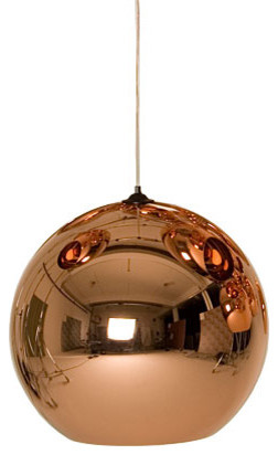 Copper Shade Suspension Light Contemporary Pendant