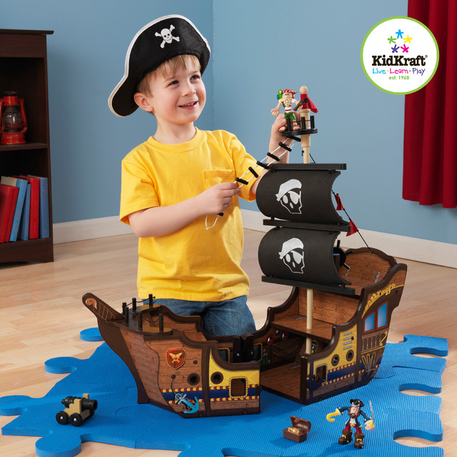 Kids pirate ship traditional kids toys and games for Kitchen set zabawka