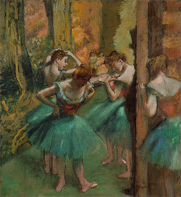 Dancers, Pink and Green, c.1890 | Edgar Degas | Canvas Prints prints-and-posters