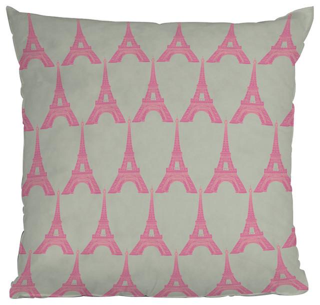 DENY Designs Bianca Green Oui Oui Throw Pillow eclectic-pillows
