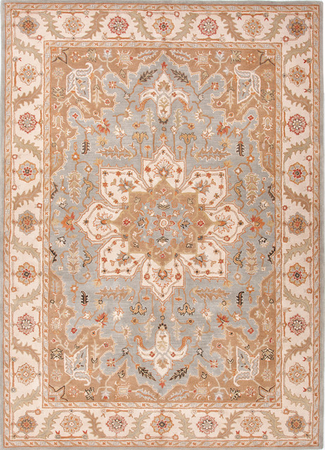 Plush Traditional Poeme Orleans Rug Blue traditional-rugs