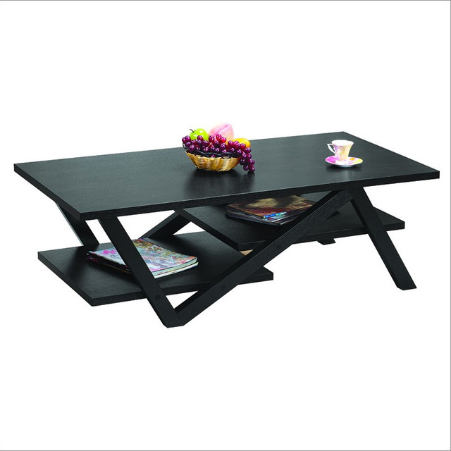 Enitial Lab Caleb Coffee Table in Matte Black Finish modern-coffee-tables