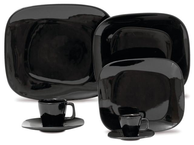 Karim Rashid-Shift Line-Black 20 pc Set contemporary-dinnerware-sets