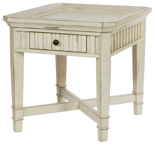 Hammary Portsmouth Rectangular Drawer End Table In Coastal