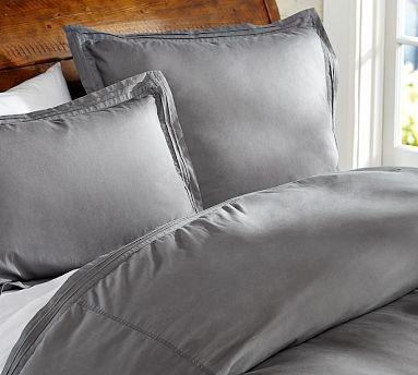 Casual Cotton Sham, King, Flagstone Gray traditional-pillowcases-and-shams
