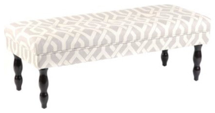 Gray Madison Bench modern-bedroom-benches