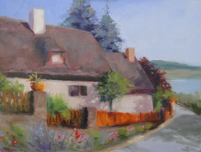 """""""Hungarian Cottage-Village of Tihany"""" Artwork contemporary-originals-and-limited-editions"""