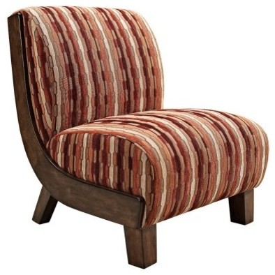 Ramona Accent Chair - Geometric Stripe modern-chairs