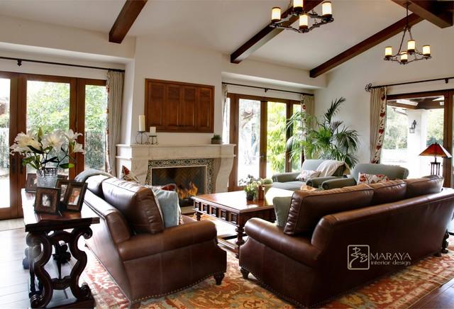 Santa Barbara Living Room Traditional Living Room