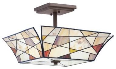 Kichler Shazam 69159 Semi-Flush - 16.5 in. - Olde Bronze modern-ceiling-lighting