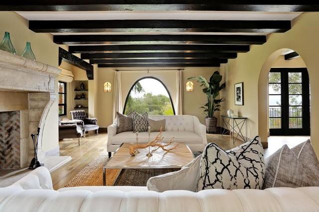 2201 Bywood Drive Oakland CA Mediterranean Living Room