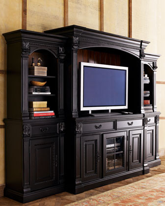 Media wall unit omahdesignsnet for Traditional wall units