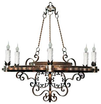 Hand Made Iron Chandelier Designs mediterranean-chandeliers