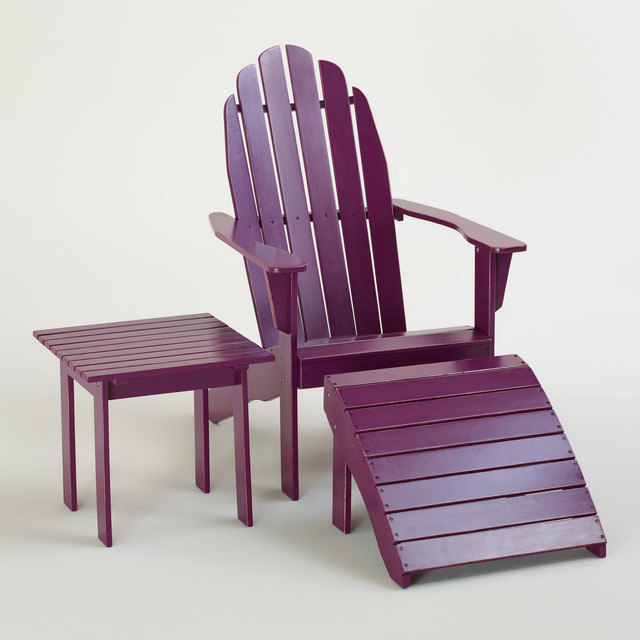 Magenta Purple Classic Adirondack Collection modern-patio-furniture-and-outdoor-furniture