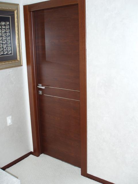 Solid Wood Door Orizzonte 2f Model Contemporary Interior Doors New York By Bella Porta