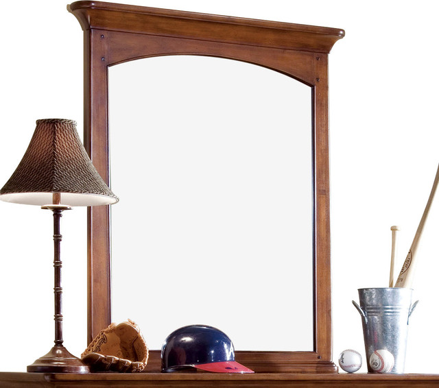 Lea Elite Crossover Vertical Mirror in Burnished Cherry traditional-kids-beds