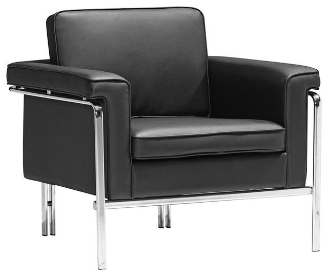 Zuo modern singular black armchair contemporary armchairs and