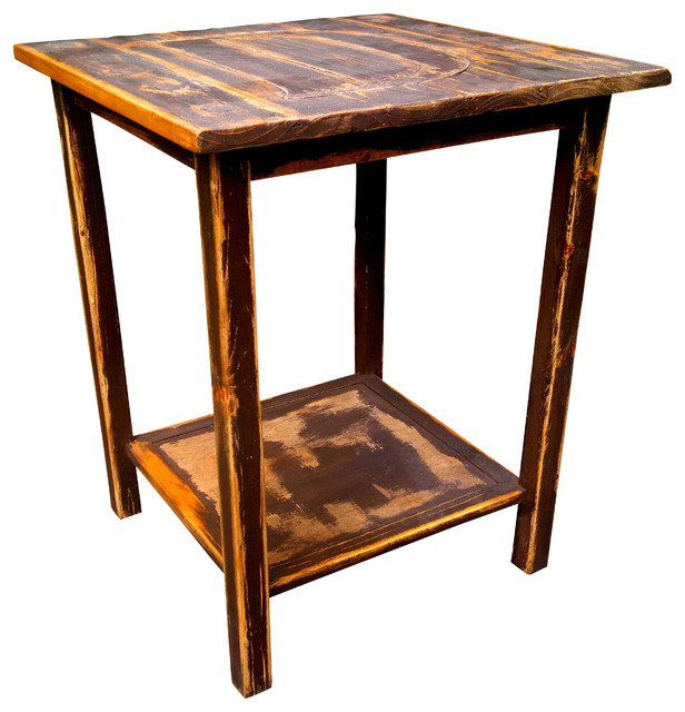 Rustic Unique End Table Rustic Side Tables And End