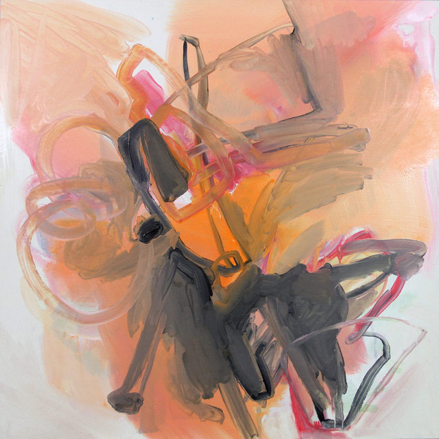 Orange Chair contemporary-artwork