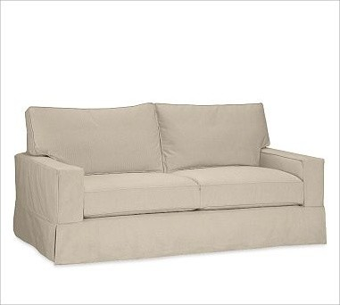 PB Comfort Square Grand Sofa, Down-Blend Wrap Cushions, Twill Parchment traditional-sofas