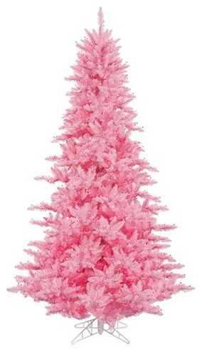 Prelit Pretty in Pink Fir Artificial Christmas Tree eclectic holiday decorations