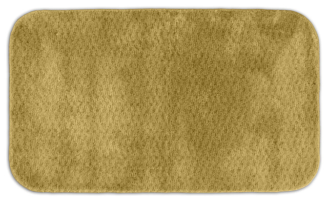 Enliven Textured Gold Sand 30 X 50 Bath Rug Contemporary