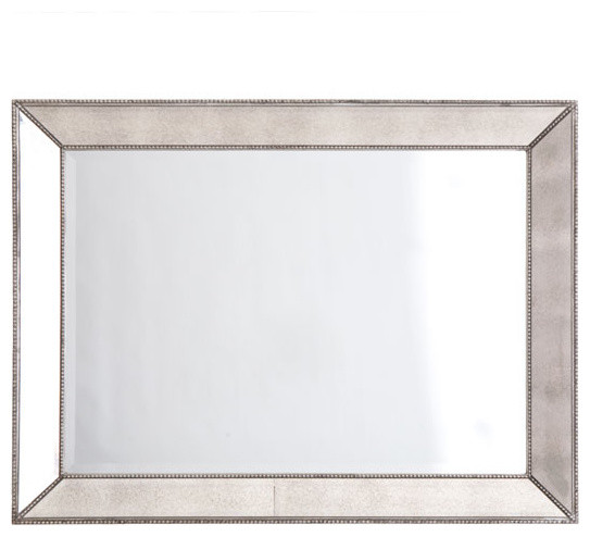 Beaded Frame Mirror - Rectangular traditional mirrors