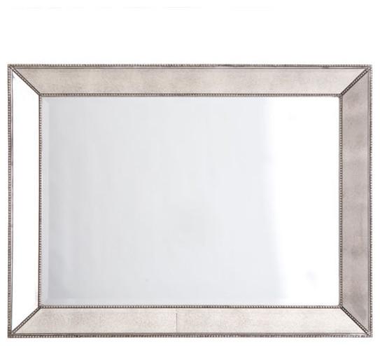 Beaded Frame Mirror - Rectangular traditional