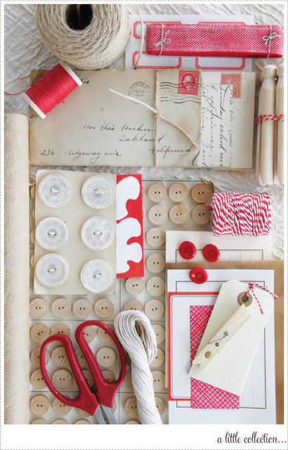 Neutrals with Red