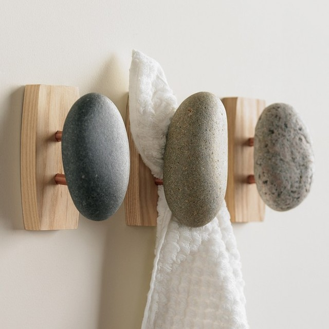Stone Towel Hook eclectic-robe-and-towel-hooks