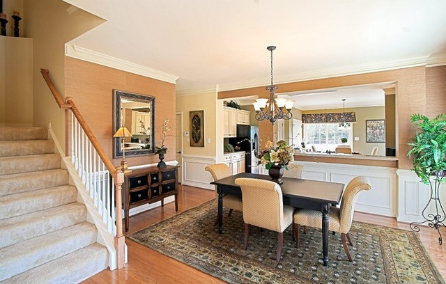 model home installations traditional dining room