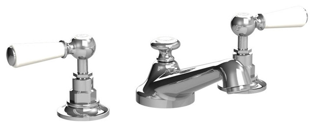 White Handle Bathroom Faucet : All Products / Bath / Bathroom Faucets