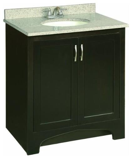 ventura espresso vanity cabinet with 2 doors 30 by 21