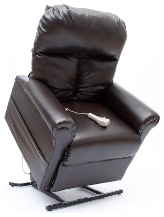 Infinite Position Reclining Power Lift Chair - Chestnut traditional armchairs