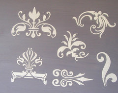 Raised Plaster Small Designs #2 Stencil Set traditional-wall-stencils