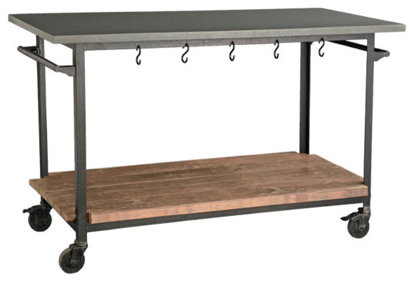 Rolling Console Cart Eclectic Kitchen Islands And
