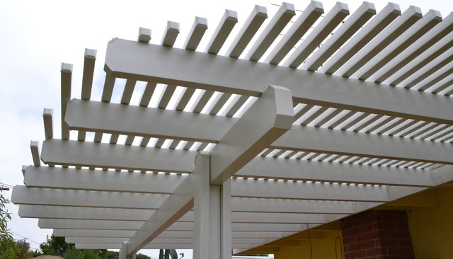Open Lattice Patio Cover in San Fernando Valley traditional-patio
