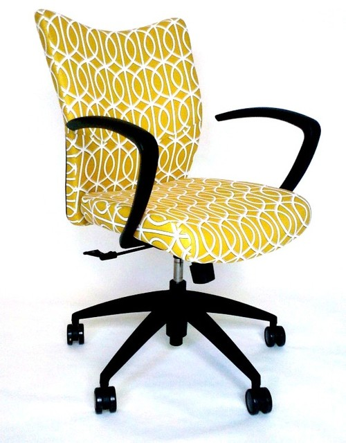 Bristol Chair With DwellStudio Gate Fabric modern-task-chairs