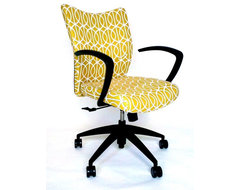 Bristol Chair With DwellStudio Gate Fabric modern-office-chairs