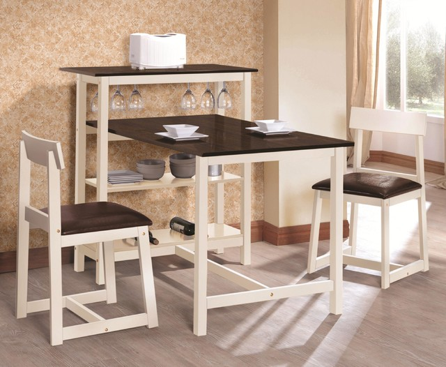 Breakfast Table amp Stool Set With Built In Storage Modern
