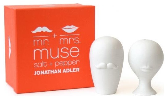Mr & Mrs Muse Salt and Pepper contemporary-salt-and-pepper-shakers-and-mills