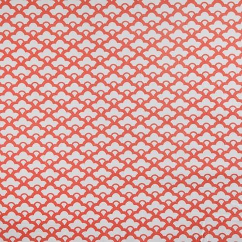 Tangerine Lotus Fabric asian-upholstery-fabric