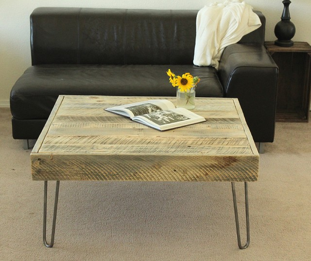 reclaimed wood end table or small square coffee table reclaimed
