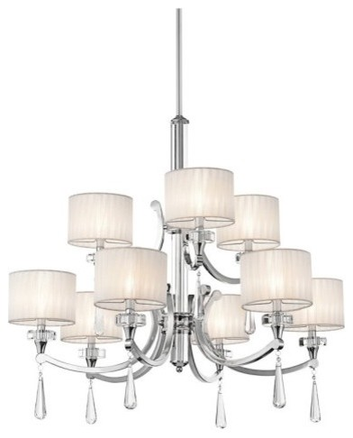 Kichler 42633CH Parker Point 9-Light Chandelier contemporary chandeliers