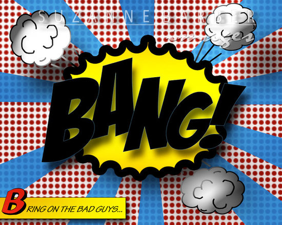 Huge 30x40 Pop art comic sound- gallery wrapped canvas -