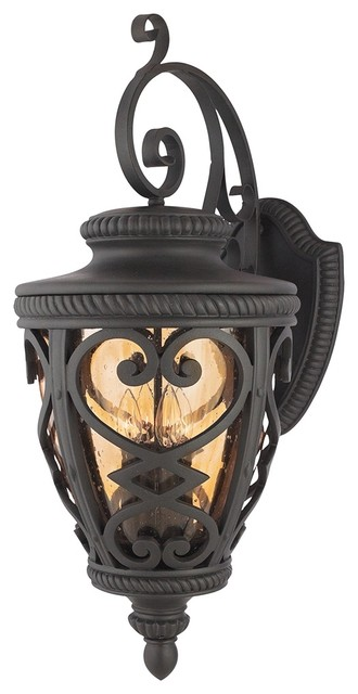 Country cottage french quarter marcado black 32 high for French country outdoor lighting