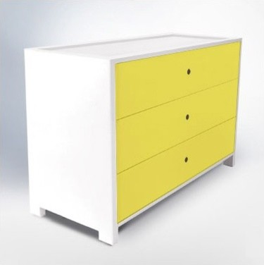 Parker Three-Drawer Dresser modern dressers chests and bedroom armoires