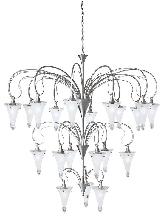 Grandiose Chandeliers - Raindrops - Chandelier 21Lt