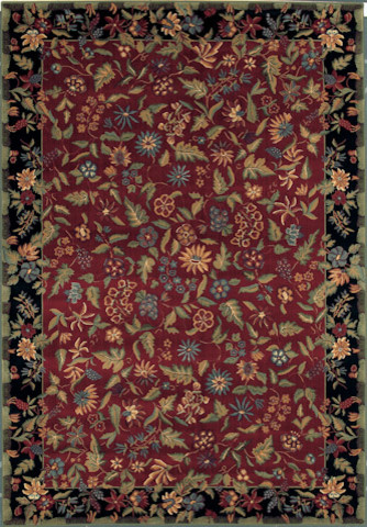 Castello Rug in Red traditional-rugs